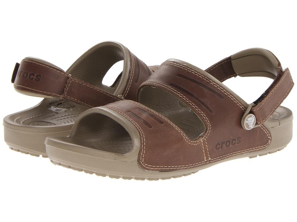 Crocs - Yukon Two Strap Sandal (Khaki/Espresso) Men