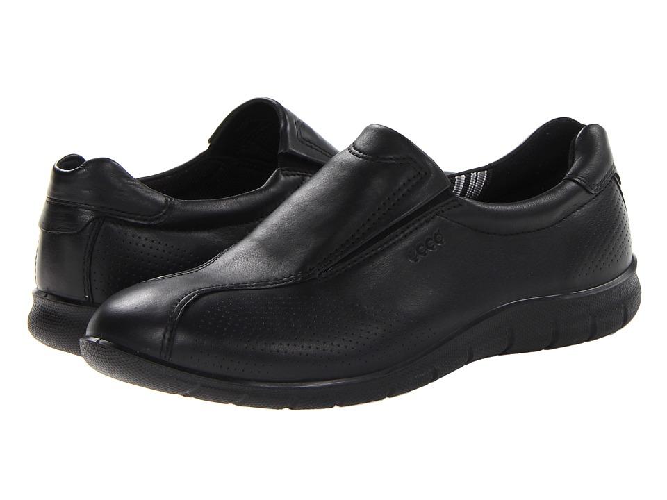 ECCO Babett Slip On Black Feather Womens Shoes