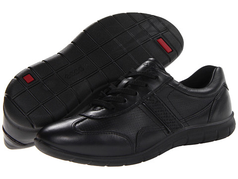 ECCO - Babett Premium Tie (Black/Black Cow Silk) - Footwear