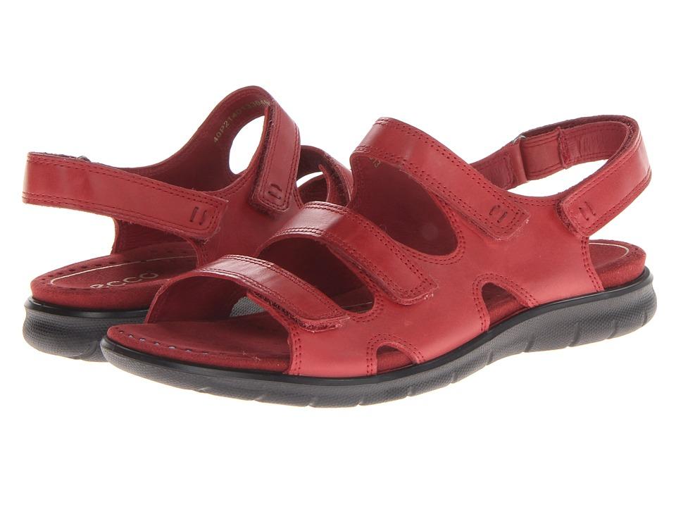 ECCO Babette Sandal 3 Strap Brick Firefly Womens Shoes