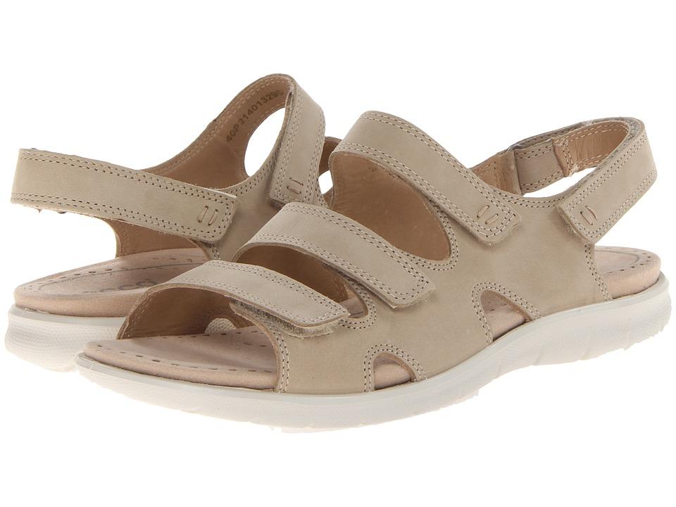 ECCO Babette Sandal 3 Strap Sand Fuego Nubuck Womens Shoes