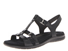 ECCO - Babette Sandal T-Strap (Black Feather) -