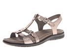 ECCO - Babette Sandal T-Strap (Warm Grey Metallic) -