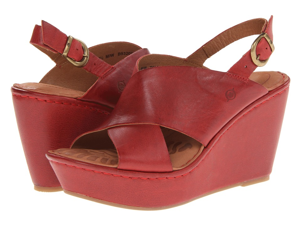 Born Emmy (Red) Women's Wedge Shoes