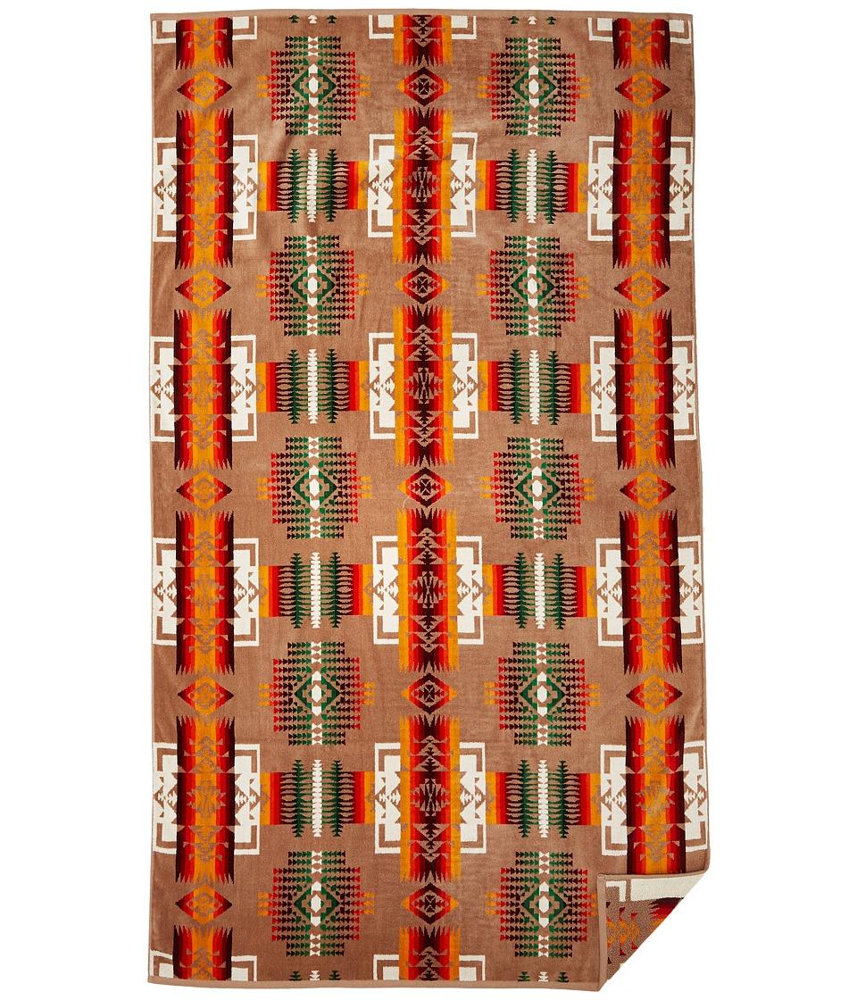 Pendleton Oversized Jacquard Towel Khaki Bath Towels