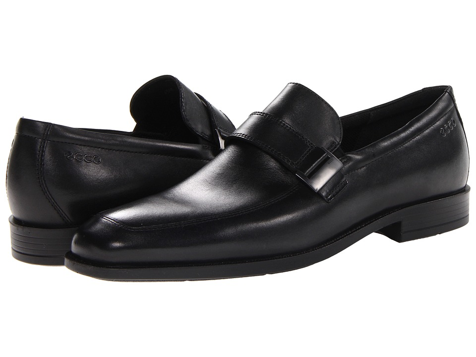 ECCO - Edinburgh Buckle Slip On (Black Santiago) Men