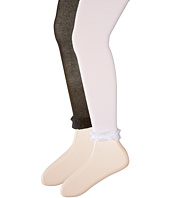 Jefferies Socks - Pima Cotton Ruffle Footless Tights 2-Pack (Infant/Toddler/Little Kid/Big Kid)