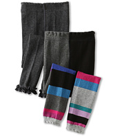Jefferies Socks - Color Block Footless Tights & Pima Cotton Ruffle Footless Tights (Toddler/Little Kid)
