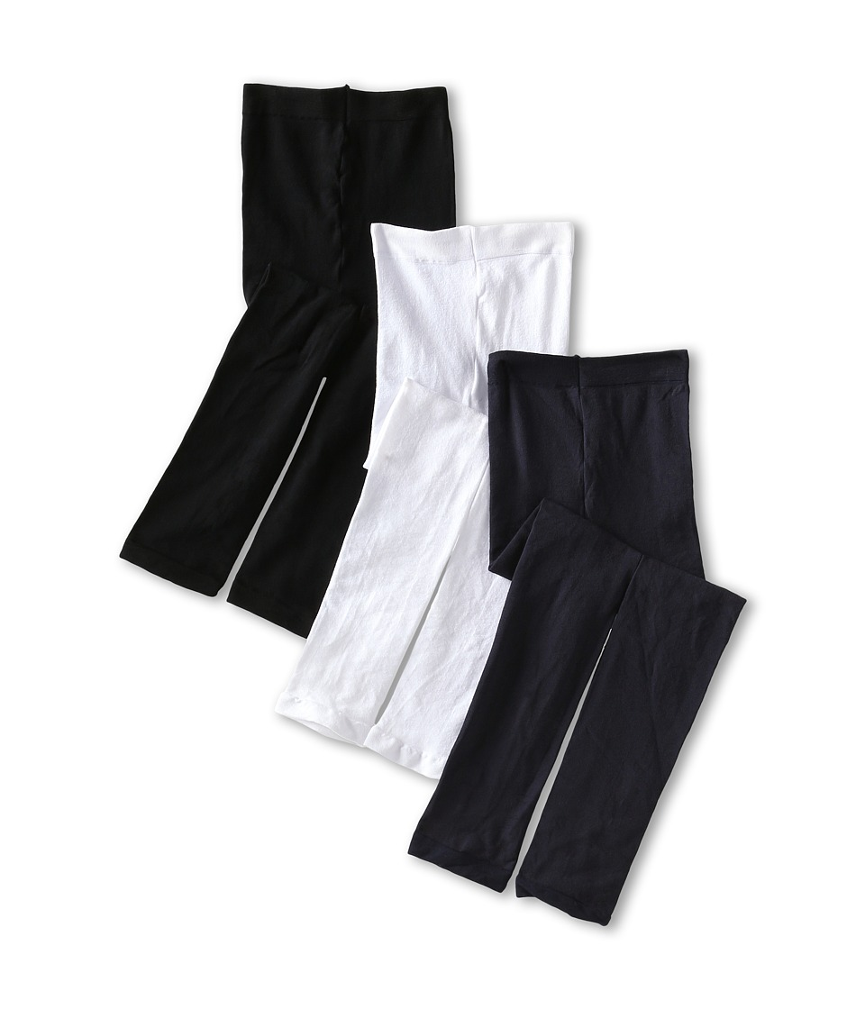 Jefferies Socks Pima Cotton Footless Tights 3 Pack Infant/Toddler/Little Kid/Big Kid Navy/White/Black Hose