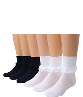 Jefferies Socks - Misty 6 Pk (Infant/Toddler/Little Kid/Big Kid)