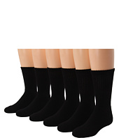 Jefferies Socks - Sport Crew Half Cushion Seamless 6 Pk (Toddler/Little Kid/Big Kid/Adult)