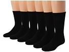 Jefferies Socks Sport Crew Half Cushion Seamless 6-Pack (Toddler/Little Kid/Big Kid/Adult)