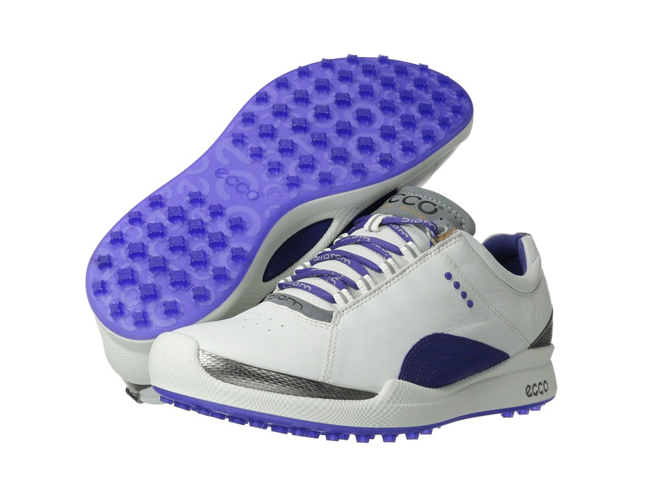 ECCO Golf Biom Golf Hybrid White/Iris Biom Yak Ultimate Runners Womens Golf Shoes