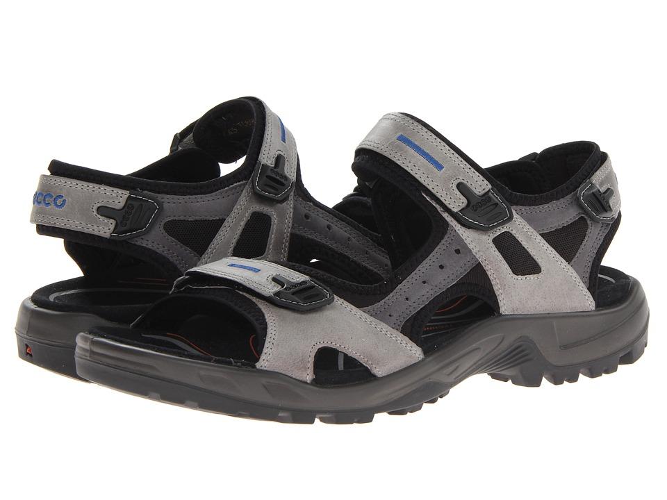 ECCO Sport Yucatan Sandal (Wild Dove/Titanium/Black Oil Nubuck/Oil Nubuck/Textile) Men
