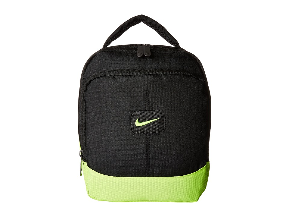 Nike Kids - Lunch Tote 2 (Black/Volt) Tote Handbags