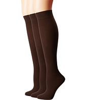 HUE - Flat Knit Knee Socks 3 Pair Pack