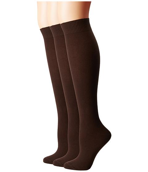 HUE Flat Knit Knee Socks 3 Pair Pack