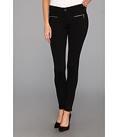 True Religion - Edie Low-Rise Skinny Ponte w/ Zippers