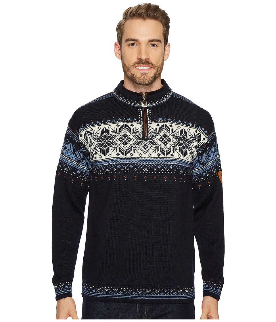Dale of Norway - Blyfjell (C-Navy/China Blue/Off White/Copper) Mens Sweater