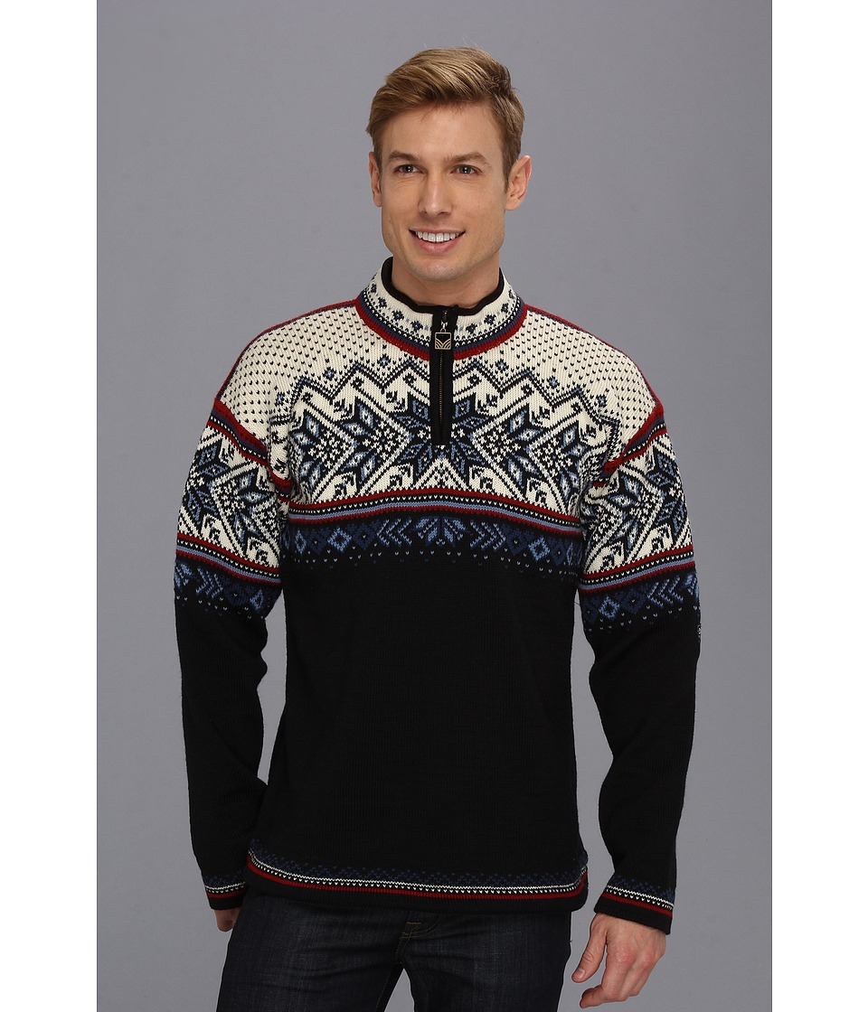 Dale of Norway - Vail (C-Midnight Navy/Red Rose/Off White) Mens Sweater