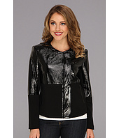 Vince Camuto - Patent & Ponte Side Zip Jacket