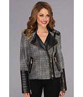 Vince Camuto - Zipper Tweed Moto Jacket