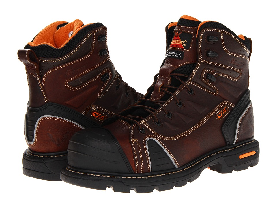 Thorogood - 6 Lace To Toe (Brown Tumbled) Mens Work Boots