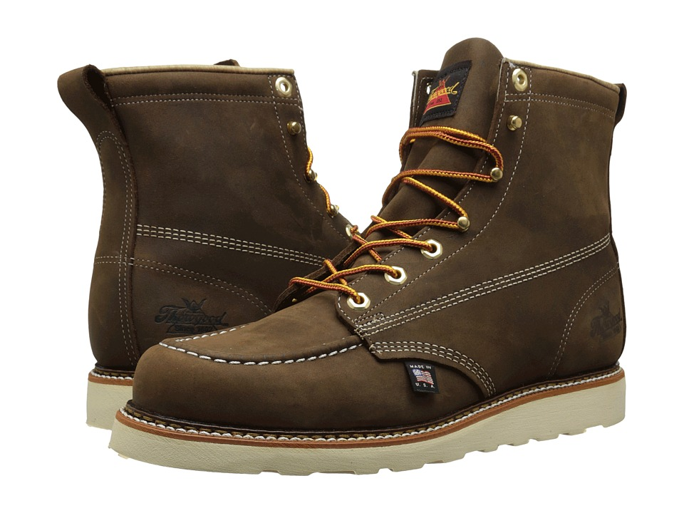Thorogood 6 Moc Toe Brown Crazyhorse Mens Work Boots