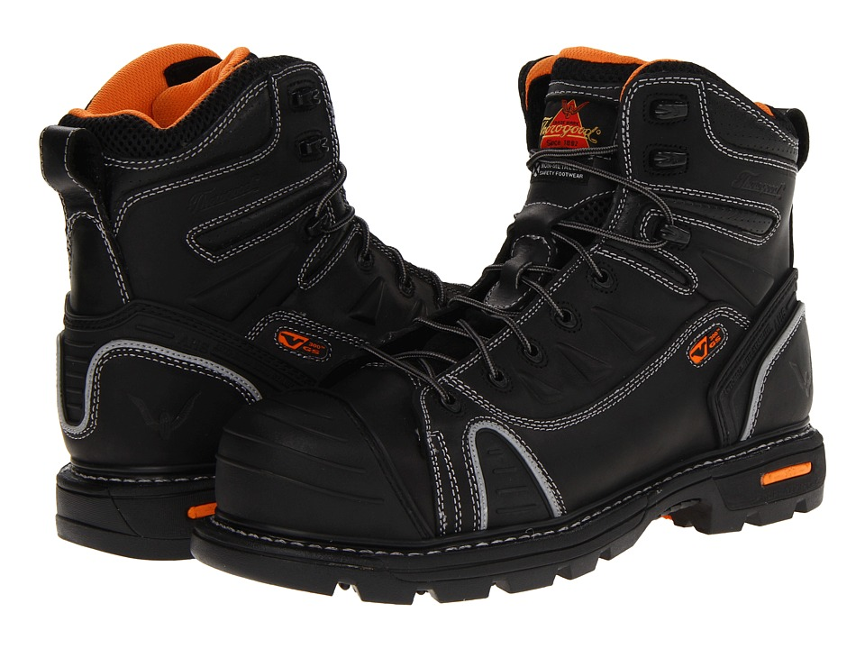 Thorogood 6 Lace To Toe Black Oiled Mens Work Boots