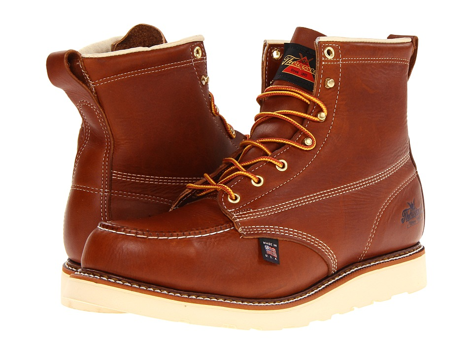 Thorogood 6 Safety Moc Toe Tobacco Mens Work Boots