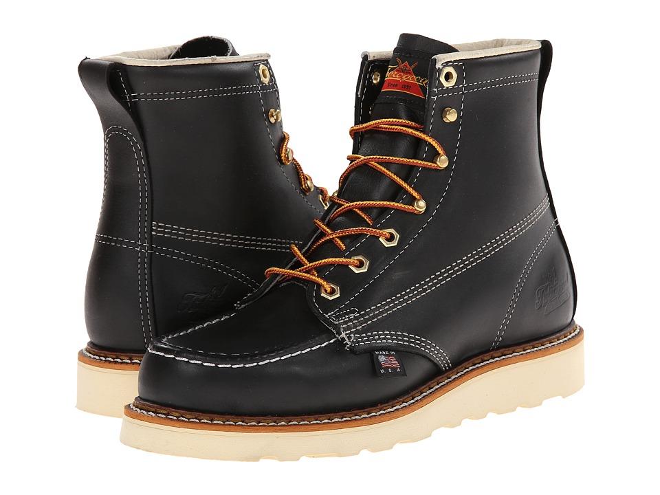 Thorogood 6 Black Moc Toe Black Oil Mens Work Boots