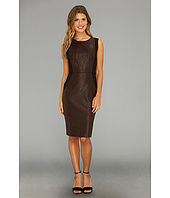 Donna Morgan - Animal Print Foil Ponte Sheath Dress