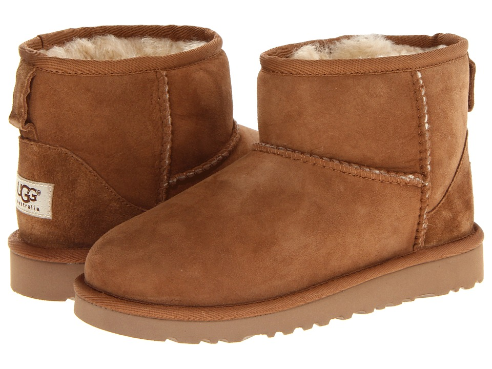 UGG Kids Classic Mini Little Kid/Big Kid Chestnut Kids Shoes