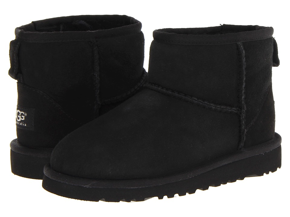 UGG Kids Classic Mini Little Kid/Big Kid Black Kids Shoes