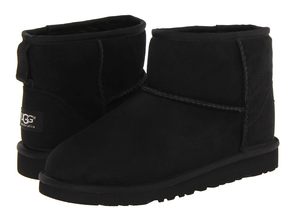 UGG Kids Classic Mini Big Kid Black Girls Shoes