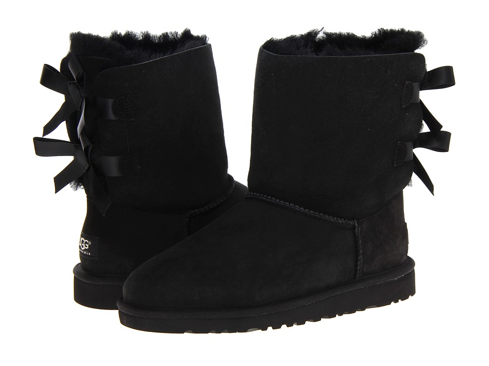 UGG Kids Bailey Bow Big Kid Black Girls Shoes