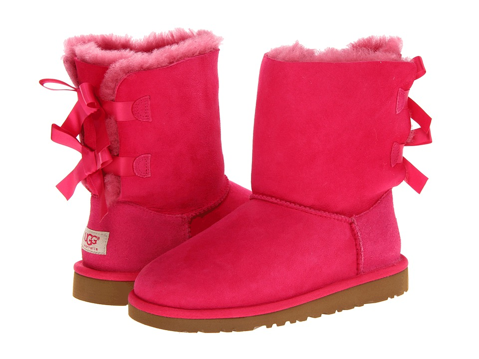 UGG Kids Bailey Bow Big Kid Cerise Girls Shoes