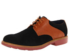 Cole Haan - Great Jones Saddle (Black Suede/Camello) - Footwear