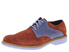 Cole Haan - Great Jones Saddle (Chestnut Suede/Chambray) - Footwear