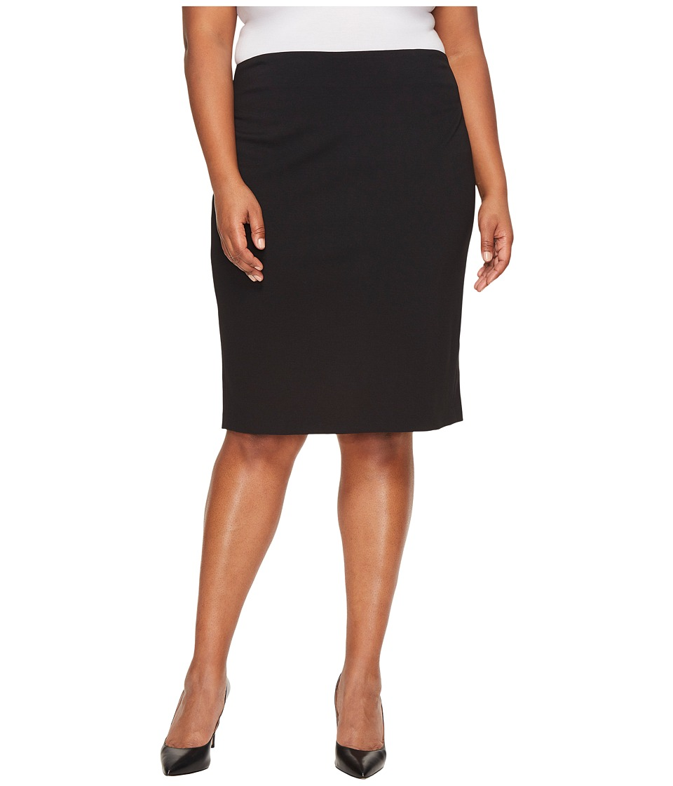 Vince Camuto Specialty Size Plus Size Pencil Skirt (Rich Black) Women