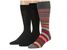 Cole Haan - Town Striped/Flat/Flat Crew 3 Pack (Medium Grey)