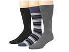 Cole Haan - Multi Stripe/Flat/Modern Pindot Crew 3 Pack (Denim Heather) - Footwear