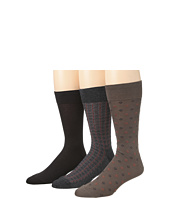 Cole Haan - Diamond Rows/Flat/Double Plaid Crew 3 Pack