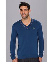Lacoste - L!VE Cotton Jersey Semi Fancy V-Neck Sweater
