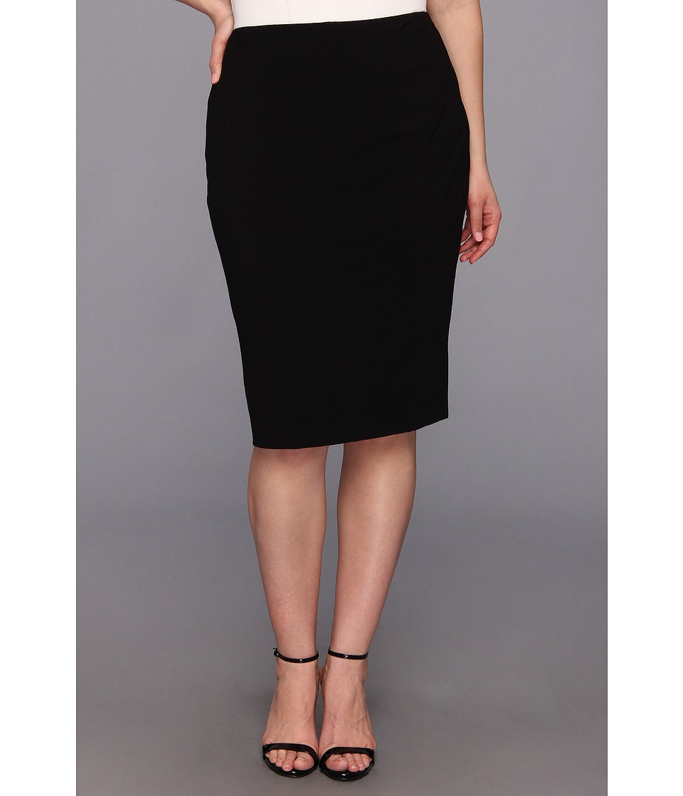 Vince Camuto Specialty Size Plus Size Midi Tube Skirt (Rich Black) Women