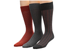 Cole Haan - Sunset Hill/Rib/Double Plaid Crew 3 Pack (Cinnabar) - Footwear