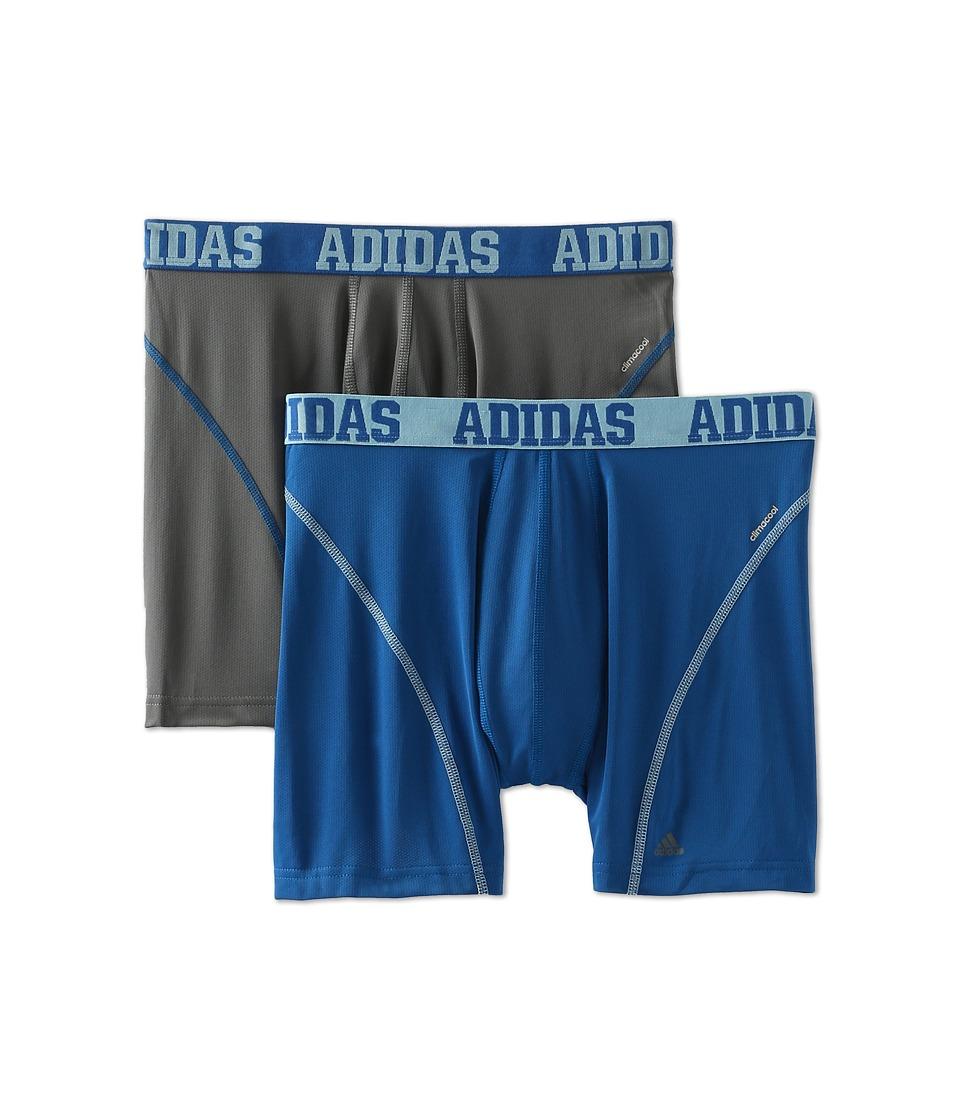 adidas Sport Performance ClimaCool 2 Pack Boxer Brief Thunder/Master Blue/Light Alaska/Master Blue/Light Alaska Mens Underwear