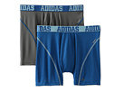 adidas - Sport Performance ClimaCool 2-Pack Boxer Brief (Thunder/Master Blue/Light Alaska/Master Blue/Light Alaska)