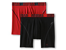 adidas - Sport Performance ClimaCool 2-Pack Boxer Brief (Black/Thunder/Real Red/Real Red/Black)
