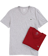 Lacoste - Solid V-Neck Tee 2-Pack